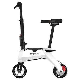 MOTINI Nano Mini Portable Electric Moped Scooter 250W Motor 7 Inch Tire - Black