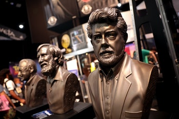 Stan Lee, Jim Henson & George Lucas busts