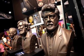 Stan Lee, Jim Henson & George Lucas busts