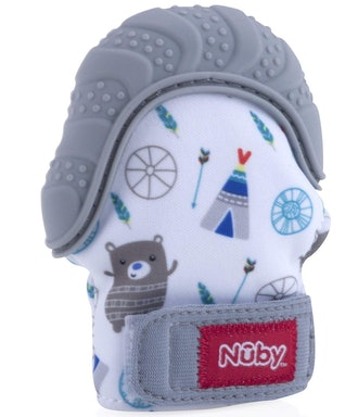 Nuby Soothing Teething Mitten with Hygenic Travel Bag