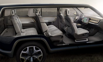 Interior of the Rivian.