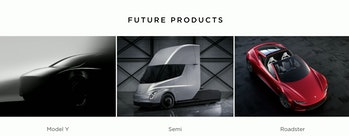 tesla model y semi roadster