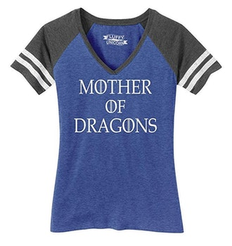 Comical Shirt Ladies Mother Dragons T Shirt Thrones TV Show Gamer Game V-Neck Tee