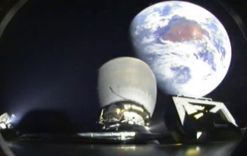 Earth view from the Falcon 9