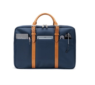 The Cary Briefcase-Single-Navy and Tan