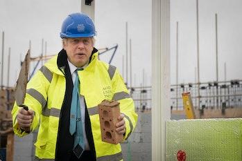 Current prime minister Boris Johnson on the campaign trail.