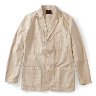 Vetra Cotton/Linen Herringbone Blzer