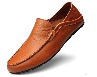 Go Tour Men's Premium Genuine Leather Casual Slip on Loafers Breathable Driving Shoes Fashion Slippe...