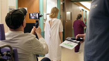 Steven Soderbergh uses an iPhone to shoot 'Unsane' in June 2017.