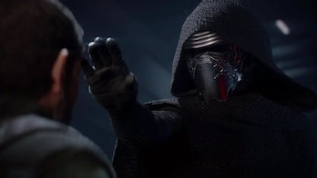 Kylo Ren breaks Del Meeko's mind to get the info he needs, but it's very different from the movies.