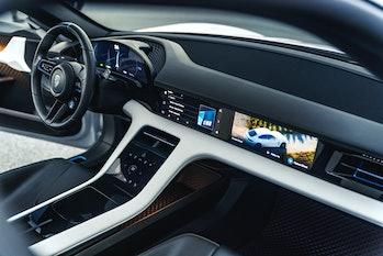 Porsche central console.