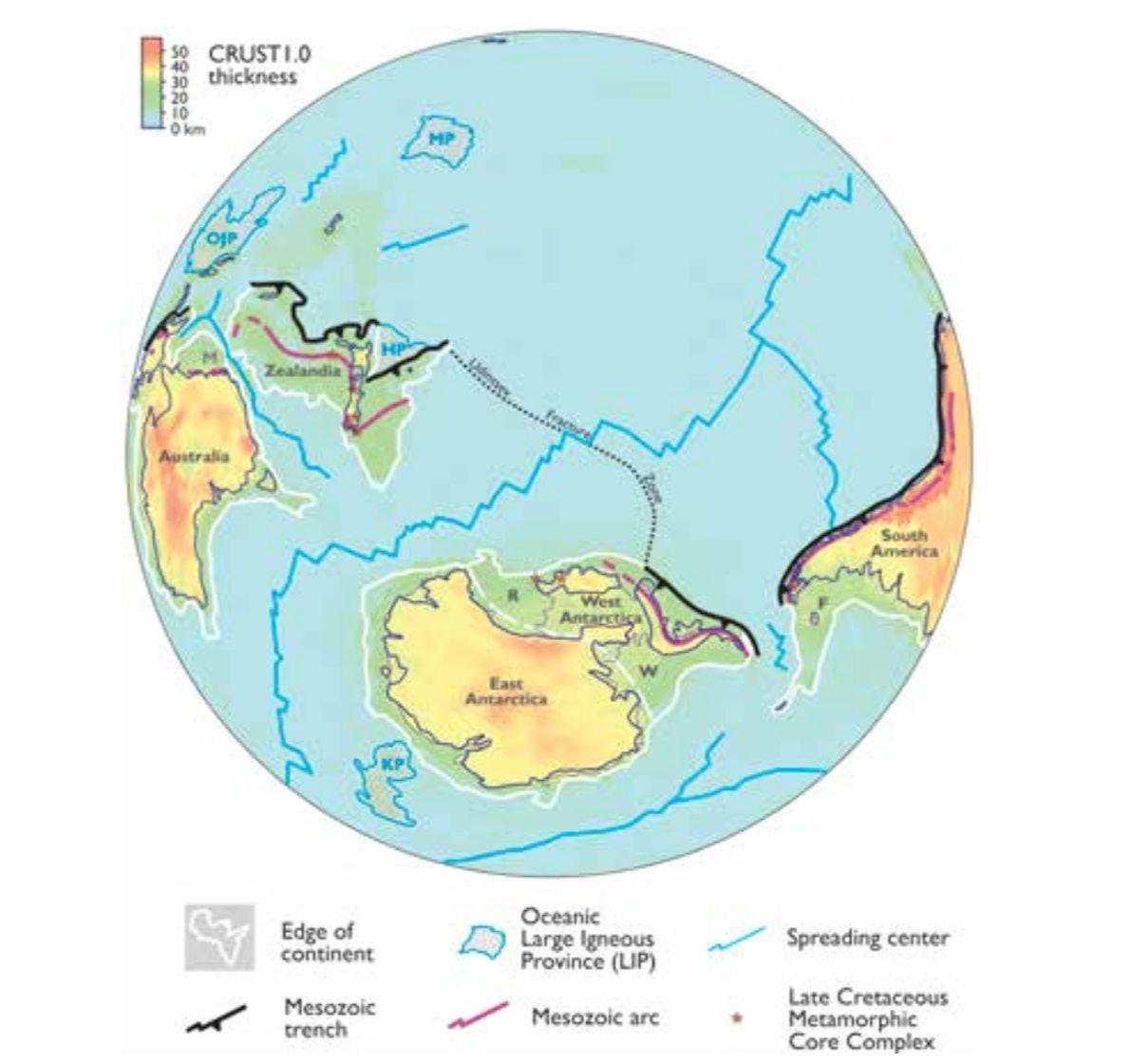 zealandia map lost continent world earth globe