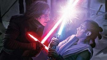 Kylo Ren Rey Force Awakens Force fight connection databank Starwars.com