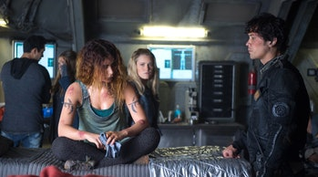 Nadia Hilker, Eliza Taylor, and Bob Morley in 'The 100'
