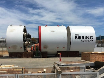 The Boring Company's boring machine, Musk has named Godot.
