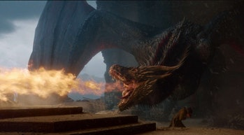 Game of Thrones drogon iron throne