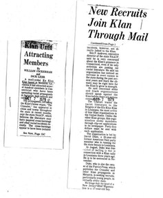 After the 'Hartford Courant' published a story about Duke's recruitment drive, other media outlets started to explore the Klan's inroads into Connecticut.