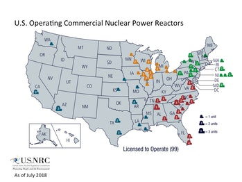 North Carolina, South Carolina, and Virginia, the states that will likely get the worst of Hurricane Florence, are home to 16 nuclear power plants.