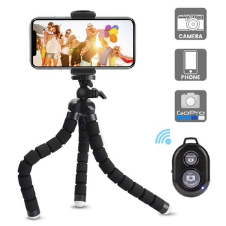 Candywe Cell Phone Tripod Flexible Tripod with Bluetooth Remote Shutter