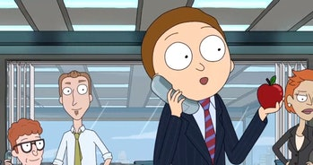 Healthy Morty becomes a 'Wolf of Wall Street.'