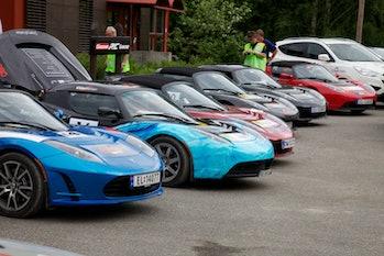 Tesla, Tesla, Tesla, Tesla, Tesla, Tesla, Hounday Hydrogen in Zero Rally 2011. Foto: Eirik Helland U...