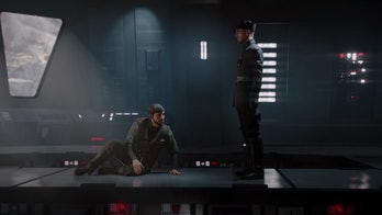 Gideon Hask confronts an imprisoned Del Meeko shortly before the events of 'The Force Awakens'.