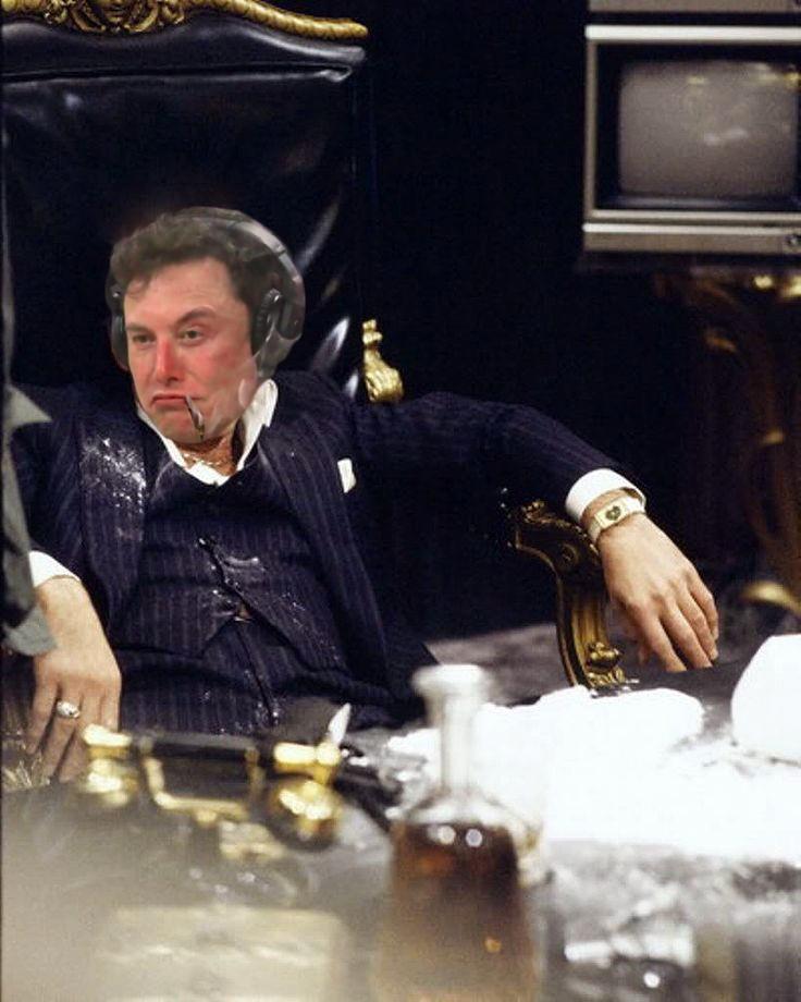 Elon Musk as Scarface