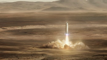 SpaceX's BFR landing on Mars.