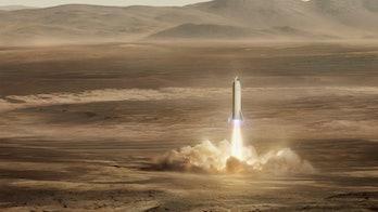 SpaceX's BFR landing on Mars.