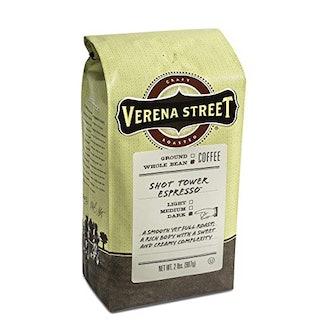 Verena Street Shot Tower Espresso Whole Bean, 2 pounds