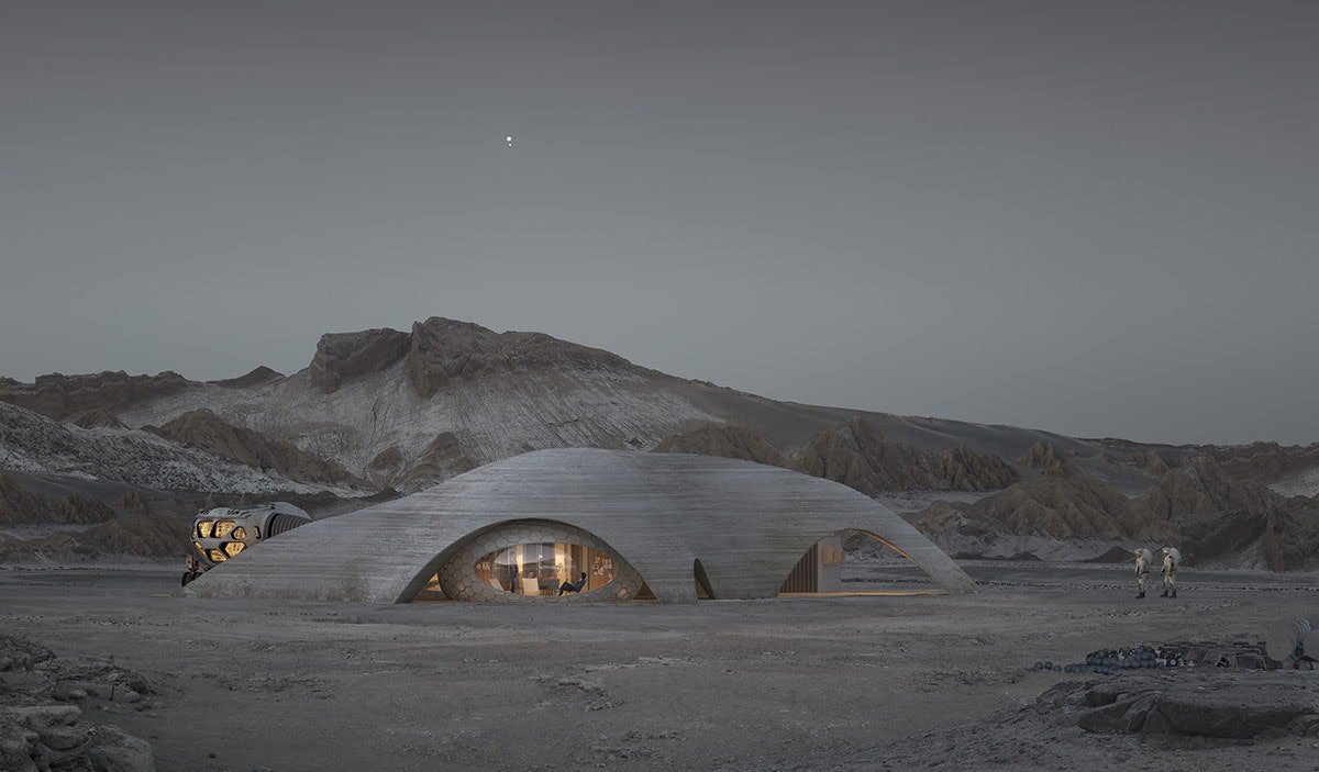 Hassell's design for a Mars habitat.