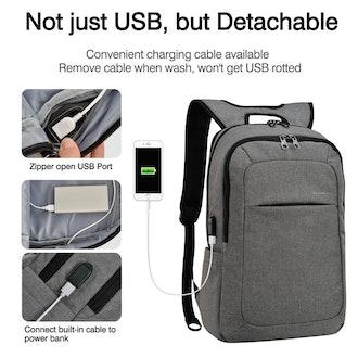 kopack Lightweight Laptop Backpack USB Port Water Resistant 15.6 Inch Business Slim Back Pack Travel...