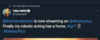 Taika Waititi's latest tweet about 'The Mandalorian.'