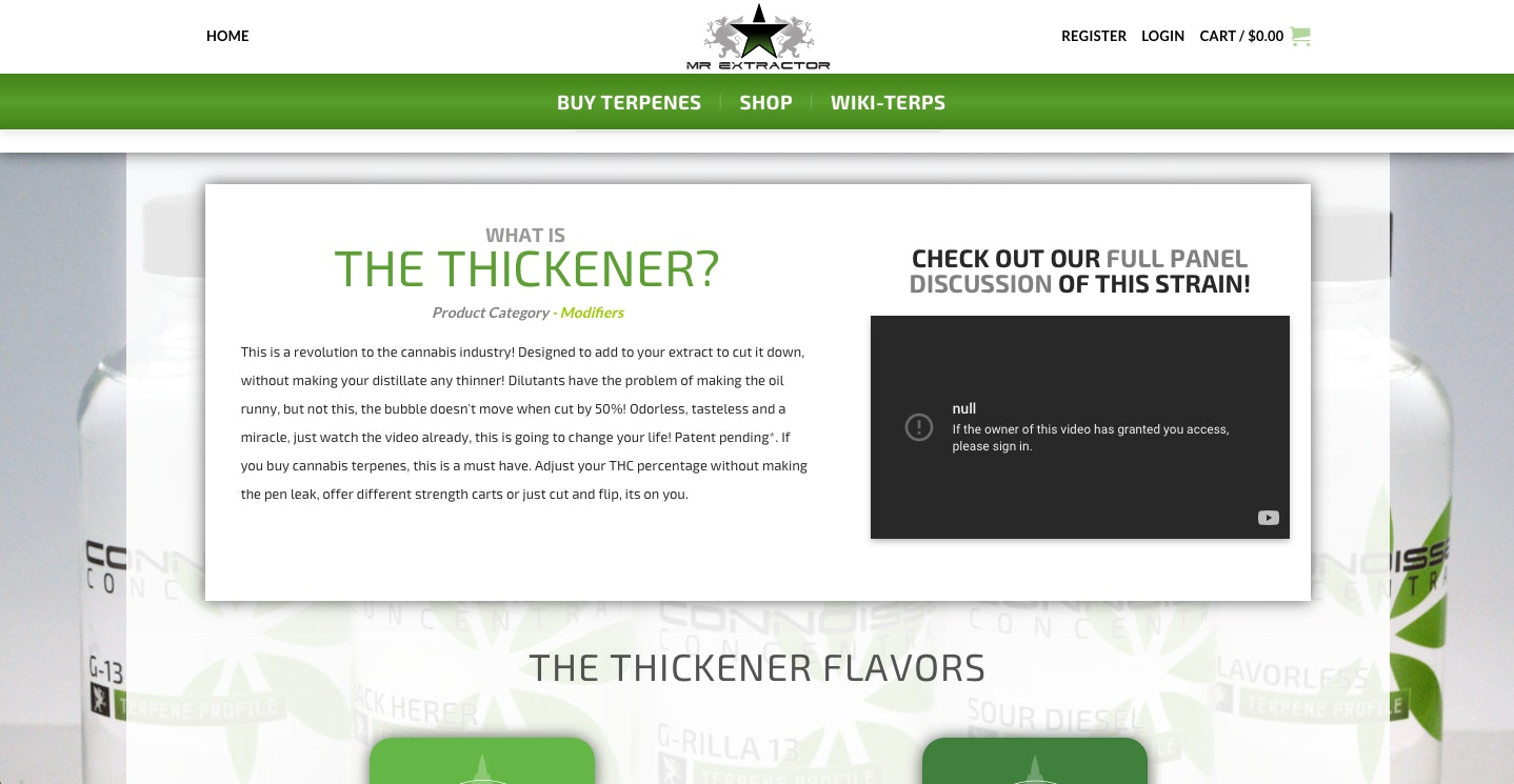 the thickener, mr, extractor