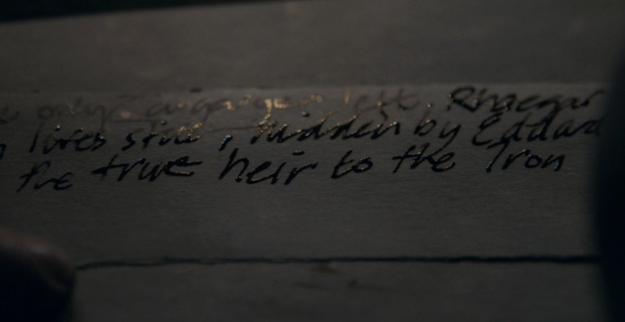 Secret scroll about Jon Snow's identity on Game of Thrones