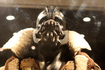 The wearable, noise canceling Hushme bears a striking resemblance to Bane's mask.
