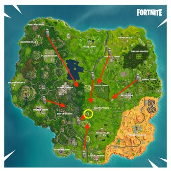 'Fortnite' Where the Stone Heads Are Looking