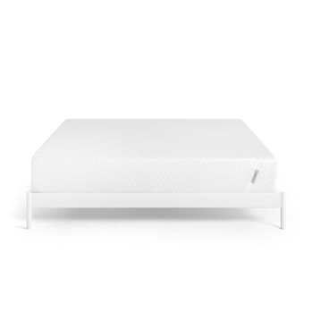 A white king-sized mattress.