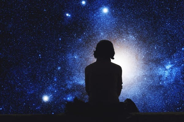 Girl watching space