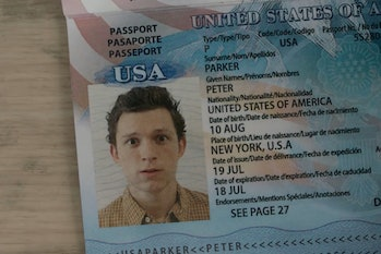 Spider-Man: Far From Home passport