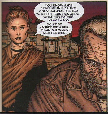 Maureen is Logan's wife in several storylines, including 'Old Man Logan'.