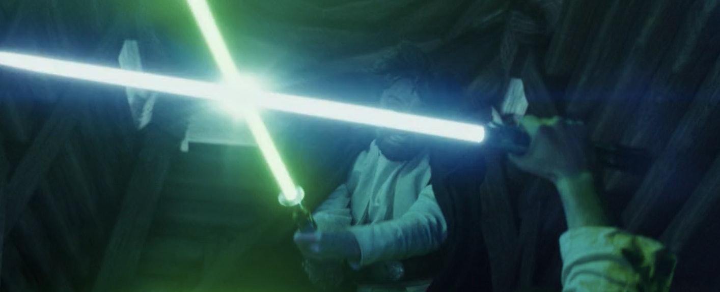 Luke versus Ben in 'The Last Jedi'.