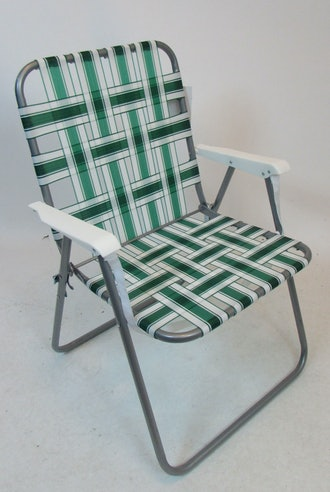 Traditional Lawn Web Chair with Carry Strap