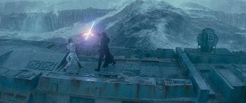 star wars rise of skywalker rey kylo ren duel