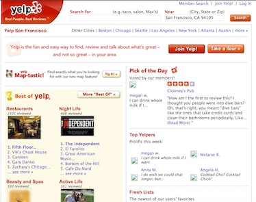 Yelp in October 2005. Even a year into its existence, people were trashing other Yelpers.