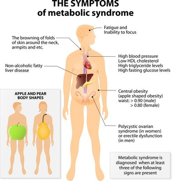 Tens of millions of people in the US have symptoms of metabolic syndrome.