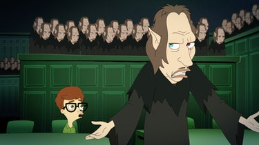The Shame Wizard puts Andrew on trial in 'Big Mouth' Season 2.