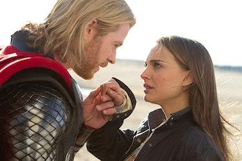 Chris Hemsworth and Natalie Portman in Thor (2011)