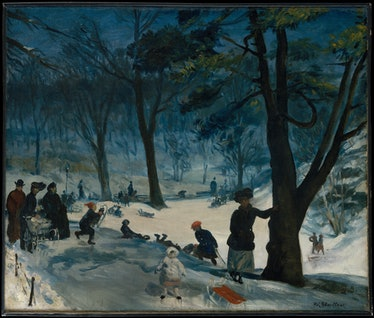 central park, painting