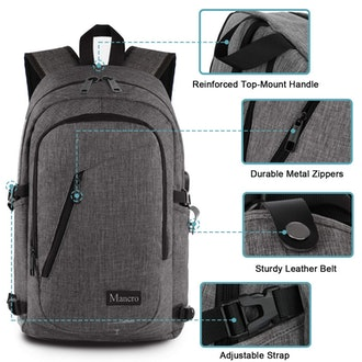 Mancro Laptop Backpack with USB port